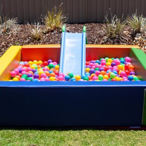 colurful ball pit