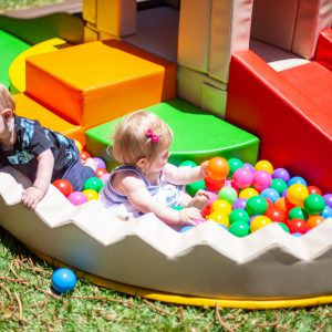 Playhouse With Ball-Pit & Frog Rocker