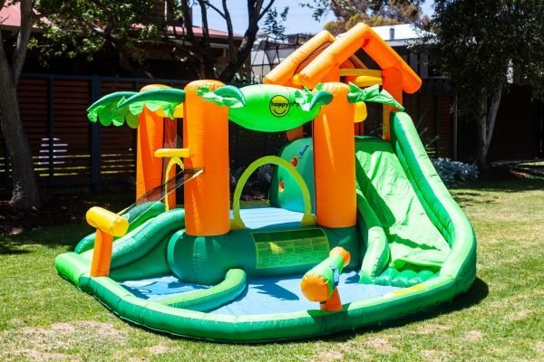 This is an image of the Tropical Play Centre inflatable bouncy castle